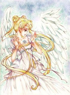 Neo Queen Serenity, Princess Serenity, Sailor Moon Manga, Sailor Moon Art, Chica Anime Manga, Anime Art, Princesa Serena, Moon Princess, Diabolik Lovers