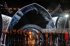 Katherine Grainger (centre left) on stage with Clare Balding (centre right) and the Team GB Rowers during the BBC Sports Personality of the Year Awards 2012 at ExCeL Arena, London. Clare Balding, Katherine Grainger, Sports Personality, Team Gb, Bbc, Centre, Awards, Stage