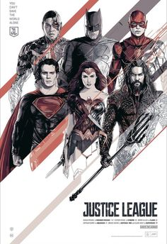 Justice League Movie Poster 2017 Featuring Superman, Cyborg, Wonder Woman, Batman, The Flash and Aquaman, 19 Justice League Easter Eggs - DigitalEntertainmentReview.com