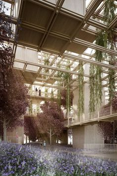 "archatlas: "" A Thousand Yards in Beijing Architecture studio Penda has revealed plans to create a vast network of modular building blocks at the International Horticultural Expo 2019 in Beijing, forming a exhibition space. Green Architecture, Landscape Architecture, Landscape Design, Architecture Design, Layered Architecture, Network Architecture, Architecture Visualization, Exhibition Space, Urban Farming"