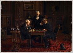 "535 Likes, 11 Comments - Stolen Art Dealer (@stolenartdealer) on Instagram: ""• Value: Gifted (Never Sold) $xx,xxx,xxx Title: The Chess Players Artist: Thomas Eakins Status: Not…"""