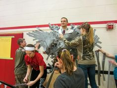 A high school principal was duct-taped to the wall for a fundraiser put on by the Fort Loramie FFA chapter.