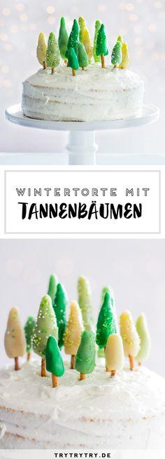 Weihnachtsbaum / Tannenbaum Torte für Weihnachten