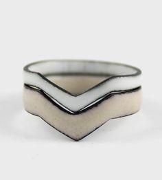 Enamel Ring Set by Amanda Hagerman Jewelry on Scoutmob Shoppe