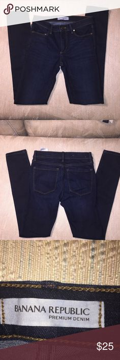 Banana Republic super stretchy skinny jeans 25S Like new Banana Republic skinny jeans worn very little in perfect condition 25S Banana Republic Pants Skinny