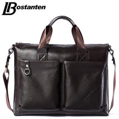 99a290aea26c Men Briefcase New Soft Leather Handbags Men Shoulder Messenger Bag Cross  body Bag Travel Bag Leather