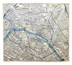 Paris Baby Quilt by Haptic Lab: Snuggle up under the City of Lights. #Quilt #Paris #Map #Haptic_Labs