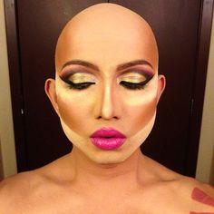 Drag Queen Makeup Contouring: image new com Drag Lip Makeup,