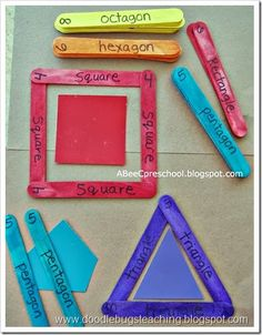 Great for common core 1st grade knowing composing shapes and knowing attributes.