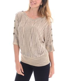 Look at this #zulilyfind! Maglia Raw Dolman Sweater by Maglia #zulilyfinds