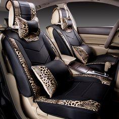 Car Seat Cover Styling,Leopard Senior Leather,Car Cushion For BMW Audi Hyundai Volkswagen Porsche HONDA Toyota Benz Ford Nissan