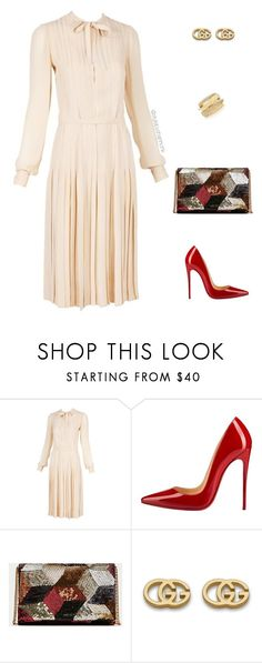 """1970's inspired"" by stylebyshannonk ❤ liked on Polyvore featuring Chanel, Christian Louboutin, Gucci and Shay"