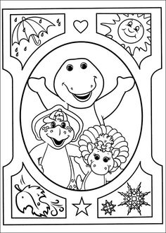 barney and friends free coloring pagesbig