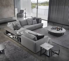 Individual design sofa by Marelli. The model Loft can be adapted to every need. Sofa Design, Canapé Design, House Design, Living Room Sofa, Living Room Furniture, Luxury Interior, Interior Design, Soft Seating, Sofa Set