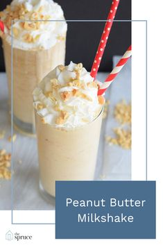 Peanut Butter Milkshake - - Peanut butter milkshakes are a salty, sweet, twist on a super cool treat. They're chock full of peanut butter flavor and so easy to customize. Microwave Peanut Butter Fudge, Peanut Butter Shake, Peanut Butter Breakfast, Peanut Butter Desserts, Homemade Peanut Butter, Peanut Butter Cookies, Chocolate Peanut Butter, Peanut Butter Milkshake Recipe Without Ice Cream, Homemade Milkshake