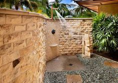 Great outdoor shower for the Villas
