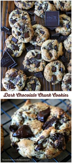 Dark Chocolate Chunk Cookies, a recipe with a test kitchen's tip for extra chocolaty melted goodness! #chocolatechipcookies #Ghirardelli