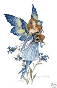 amy brown fairies | Forget Me not 2 Amy Brown Fairy Print Fairies Faery | eBay
