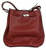 Hermes So Kelly Handbag 26cm Dark Red