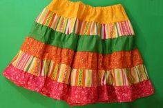 Como costurar uma saia de babados em camadas