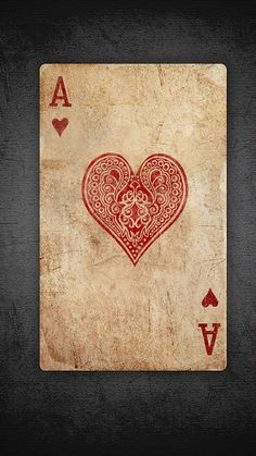 canvas ideas, ace of hearts, valentine day, inspiration tattoos, old cards, heart inspir, playing cards, valentin heart, heart cards