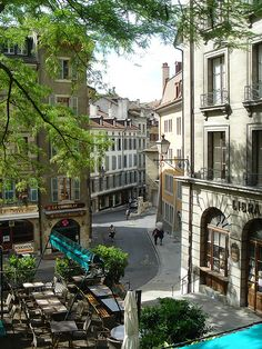 Geneva,Switzerland ~ Looking down toward Rue Saint-Léger.