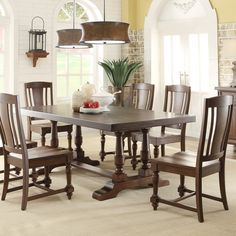 Newburgh Wood Rectangular Dining Table and Chairs in Antique Ginger by Riverside Furniture