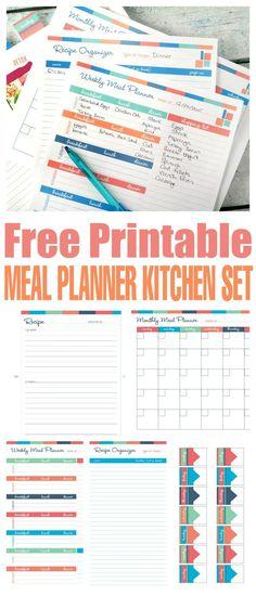 Free Printable Meal Planner Kitchen Set