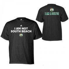 #celtics   adidas Celtics I AM NOT SOUTH BEACH. I AM A CELTIC T-Shirt