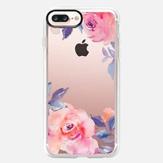 Buy Cute Watercolor Flowers Purples + Blues iPhone 7 Plus Classic Grip Case by Angie Makes at Casetify. Cute Iphone 7 Cases, Coque Iphone 6, Latest Iphone, Pink, Purple, Polyvore, Transparent, Watercolor Flowers, 6s Plus