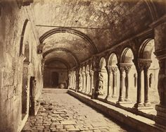 Édouard Baldus (French, born Germany, 1813-1889) 'Cloister of Saint-Trophime, Arles' c. 1861