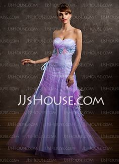 Prom Dresses - $159.99 - Ball-Gown Sweetheart Floor-Length Satin Tulle Prom Dresses With Ruffle (018005064) http://jjshouse.com/Ball-gown-Sweetheart-Floor-length-Satin-Tulle-Prom-Dresses-With-Ruffle-018005064-g5064
