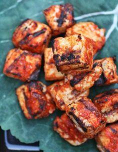 Spicy Sriracha-Grilled Tofu --- omg yum! I miss eating soy!! :(
