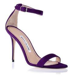 Manolo Blahnik Chaos 105 purple suede sandal #manoloblahnikheelschristianlouboutin