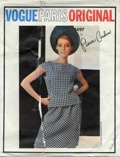 653d97c6a6d82 Vintage 1960s Vogue 1497 PIERRE CARDIN Paris Original Pattern 10 Dress nsld Pierre  Cardin, Welt