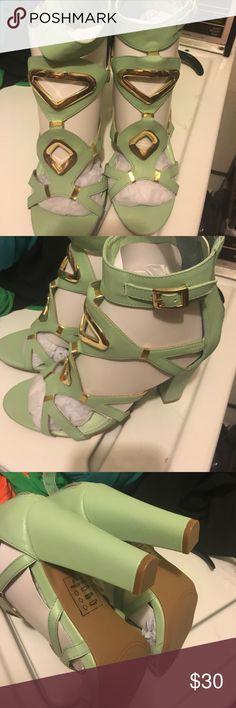 Brand-new light turquoise heels Brand-new light turquoise heels Shoes Heels