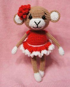 Glamorous Monkey Amigurumi - Free English Pattern