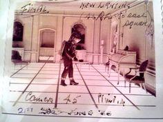 Kubricks notes for a scene written on a Polaroid.