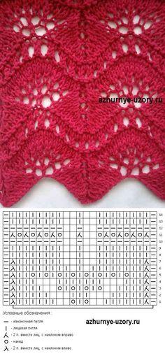 Lace knitting stitch pattern Nr 145