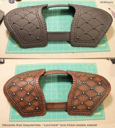 Dragon Age Inquisition Cosplay Leather Armor by SKSProps on DeviantArt Dragon Age Inquisition, Cosplay Diy, Cosplay Costumes, Foam Costumes, Eva Foam Armor, Craft Foam Armor, Costume Armour, Larp Armor, Look At My