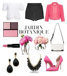 """""""work"""" by cris-conde ❤ liked on Polyvore featuring LSA International, Boohoo, Damsel in a Dress, Kurt Geiger, Kenneth Jay Lane, Surratt and Smashbox"""