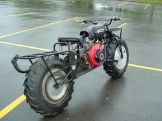 Industrial Strength Diesel Farm Motorcycle