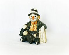 Vintage Clown Music Box Porcelain Hobo Emmett Kelly at PaddywhackKnickKnack, $38.00