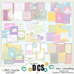 Lots of Baby journaling cards freebies!