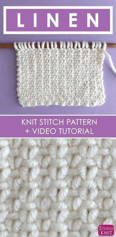 to Knit the Linen Stitch How to Knit the Linen Stitch with Free Written Pattern and Video Tutorial by Studio Knit.How to Knit the Linen Stitch with Free Written Pattern and Video Tutorial by Studio Knit. Knitting Help, Knitting Stiches, Knitting Videos, Easy Knitting, Loom Knitting, Knitting Needles, Knitting Patterns Free, Knitting Projects, Crochet Patterns