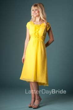 Olivia bridesmaid dress in Sunflower