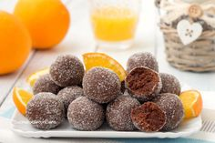 tartufini-arancia-e-cioccolato. Food C, Love Food, Bachlorette Cakes, Sweet Recipes, Dog Food Recipes, Sweet Light, Coca Cola Cake, Easy Sweets, Biscotti Cookies