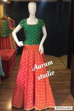Half Saree Lehenga, Kids Lehenga, Saree Dress, Anarkali, Sarees, Long Skirt Top Designs, Long Skirt And Top, Long Skirts, Indian Skirt