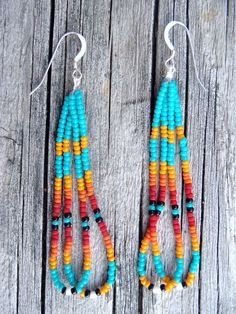 Native American Style Beaded Earring via Etsy.
