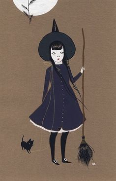 Witch & cat